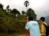 Students performing site survey before the commencement of construction