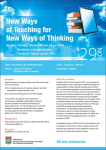 New Ways of Teaching for New Ways of Thinking poster