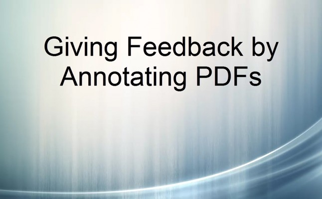 5 Giving Feedback By Annotating PDFs