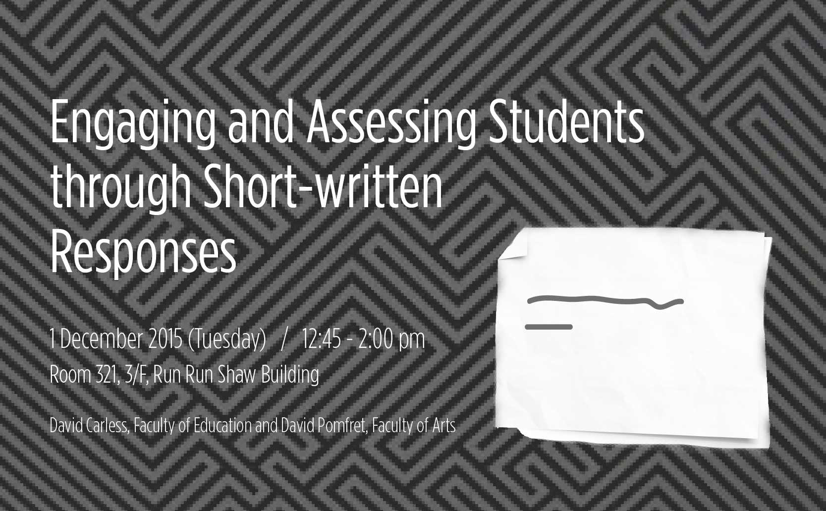 CETL Seminar: Engaging and Assessing Students through Short-written Responses