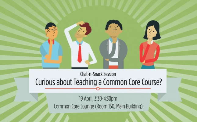 Chat-n-Snack Session: Curious about Teaching a Common Core Course?