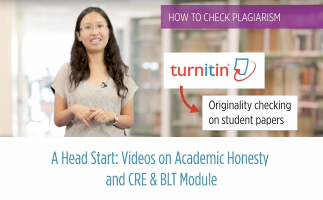 A Head Start: Videos on Academic Honesty and CRE & BLT Module