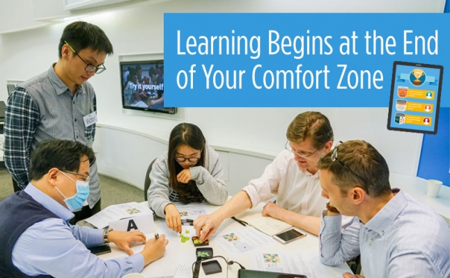 Learning begins at the end of your comfort zone
