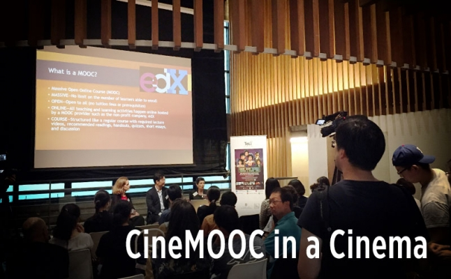 CineMOOC in a Cinema