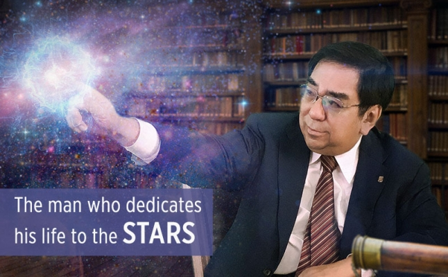 The man who dedicates his life to the stars