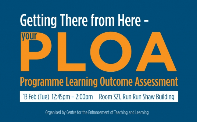 Getting there from here – your Programme Learning Outcome Assessment (PLOA)