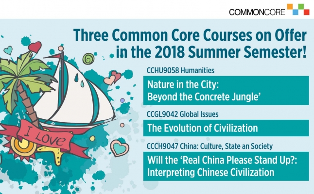 Common Core: Three Courses on Offer in the Summer Semester