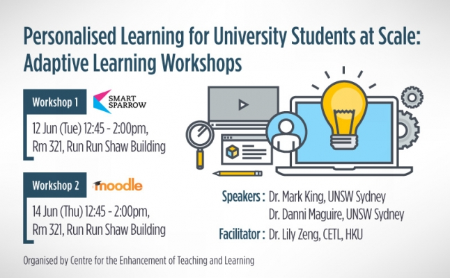 Personalised Learning for University Students at Scale: Adaptive Learning Workshops