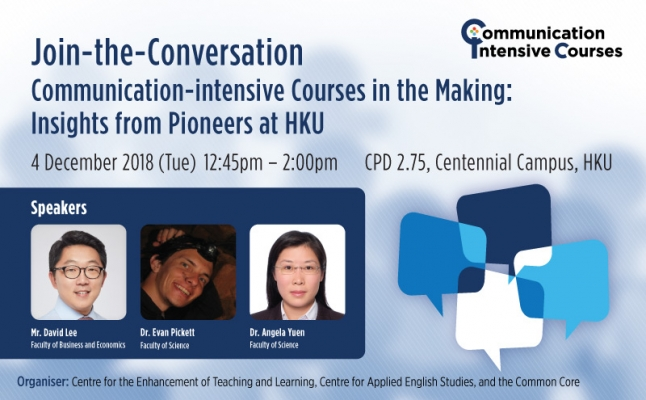 Join-the-Conversation: Communication-intensive Courses in the Making: Insights from Pioneers at HKU