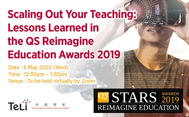 Scaling Out Your Teaching: Lessons Learned in the QS Reimagine Education Awards 2019