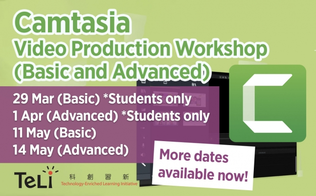 Camtasia Video Production Workshop (Basic and Advanced)