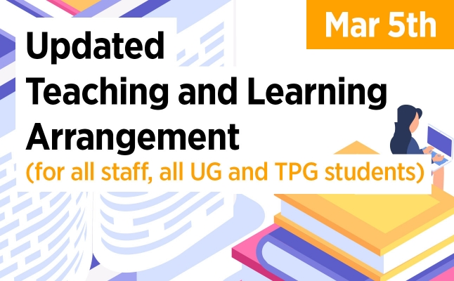 Updated Teaching and Learning Arrangement (March 5)