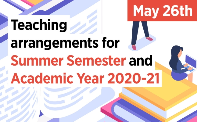 Teaching arrangements for Summer Semester and Academic Year 2020-21