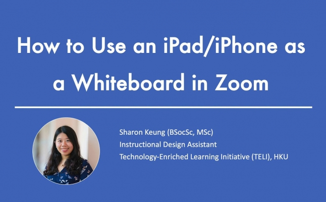 How to Use iPad_iPhone as a Whiteboard in Zoom