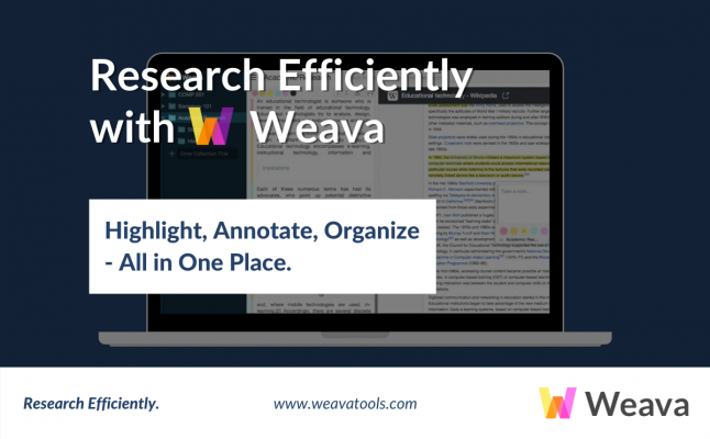 How to use Weava to improve student research